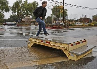 Rains pound area; minor mudslides, but no road closures reported
