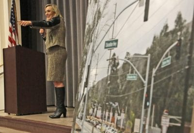 Mint Canyon Community School celebrates installation of traffic signal