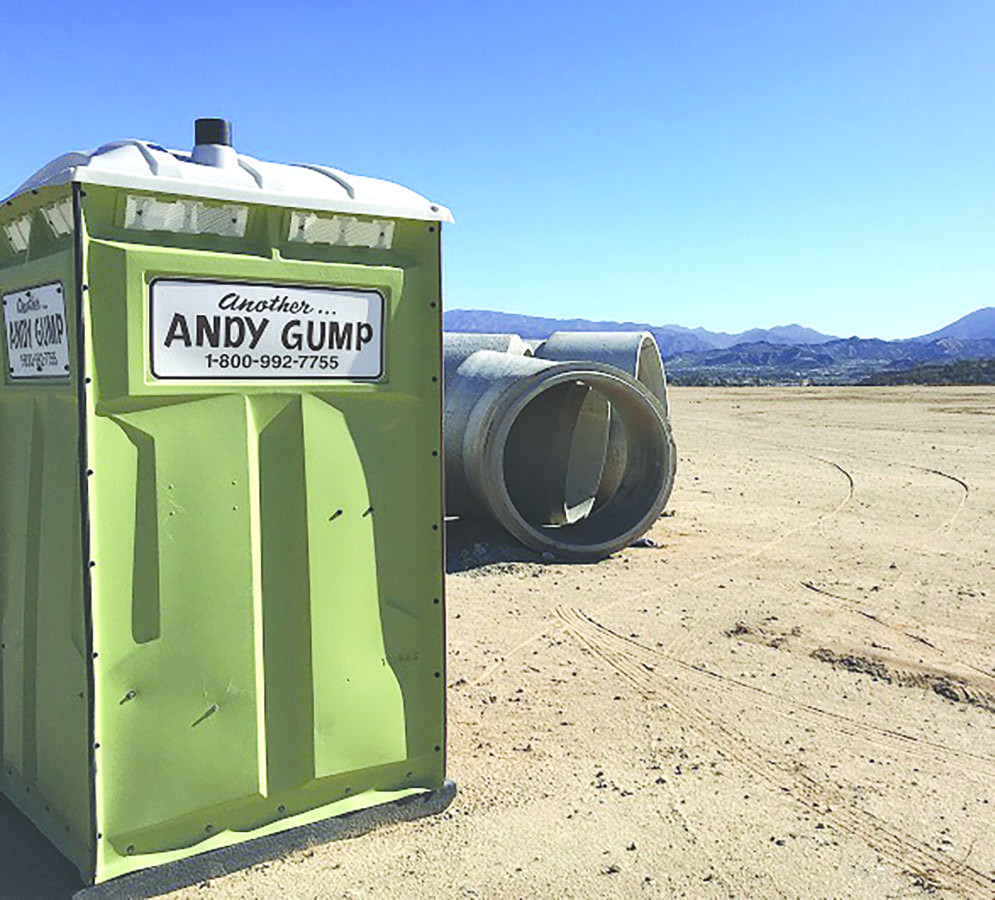 """""""Another Andy Gump"""" unit at the future site of the Santa Clarita Valley Senior Center. Photo by Patrick Mullen."""