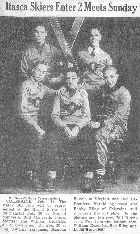 Lou Brousseau's ski team. Courtesy photo.