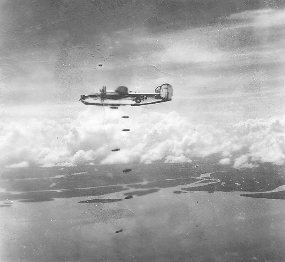 Lou Brousseau on a bombing mission. Courtesy photo.