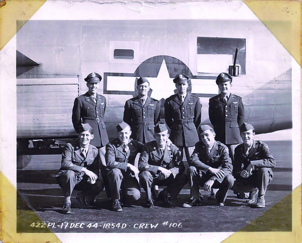 Lou Brousseau and his B-24 crew. Courtesy photo.