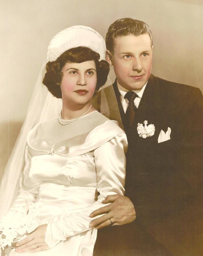 Lou and Estelle Brousseau's wedding day. Courtesy photo.