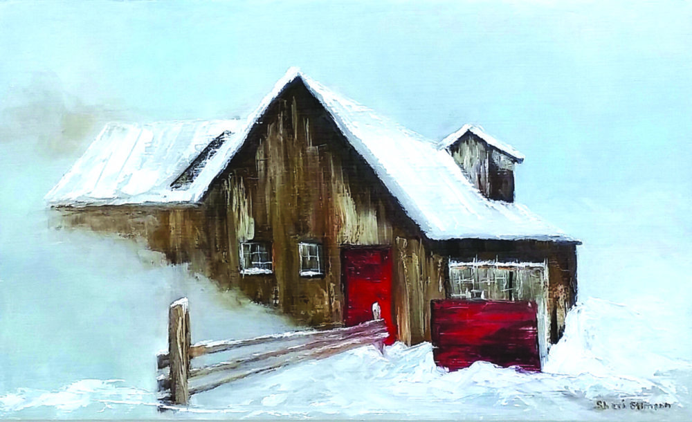 Snowed In, oil painting by Sheri Stimson, SCAA. Courtesy photo