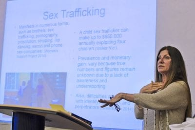 COC students organize human trafficking seminar