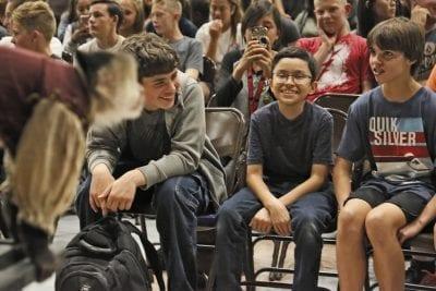 Students explore career pathways through middle school speaker series