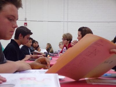 Eighth grade students get a glimpse into the professional world