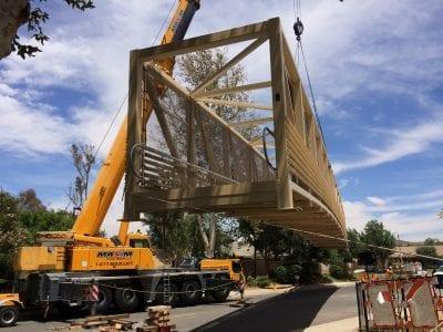 Construction on McBean Parkway pedestrian bridge to begin June 9