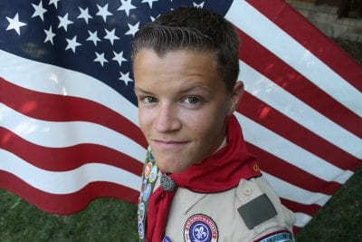 Oldest of Six Brothers Earns Eagle Scout Award