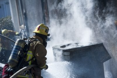 House fire scorches Sierra Highway home
