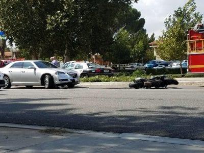 Motorcylist injured in Valencia crash