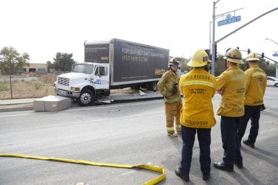UPDATE: Truck crash on Golden Valley knocks out local phones