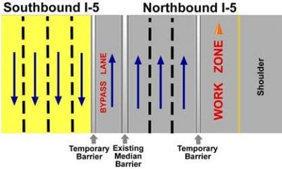 CalTrans announces I-5 road construction