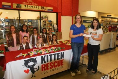 Girl Scout troop donates cookie proceeds to a local nonprofit