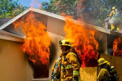 Local fire departments conduct house fire training