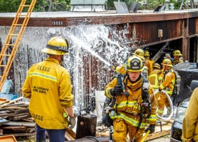 Afternoon blaze chars garage in Newhall neighborhood