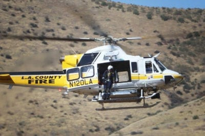 Helicopter locates injured Gorman biker