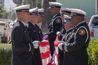 Flag service held to remember Capt. Wayne Habell, funeral scheduled Saturday