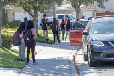 Traffic increases with students' return