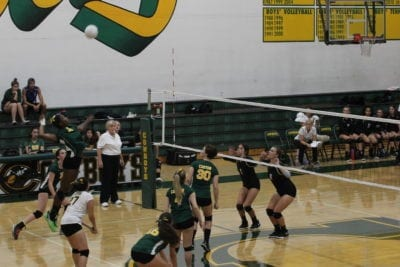 Canyon girls volleyball loses to Heritage Christian in four sets