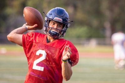 Canyons quarterback Andrew Brito draws inspiration from tragedy
