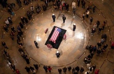 Santa Clarita officials visit Capitol rotunda, share respects for former President Bush