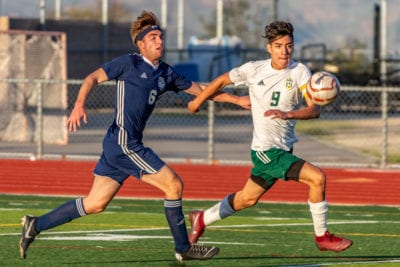 Canyon boys soccer scores early to beat West Ranch