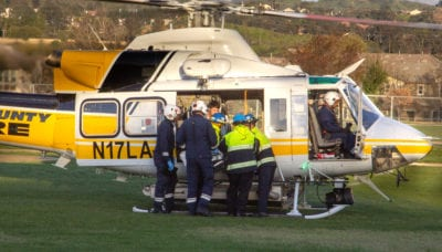 Child airlifted to hospital after drowning scare