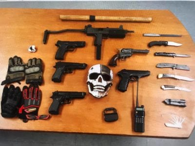 Traffic stop yields cache of weapons, replica guns