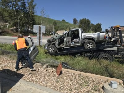 CHP investigating truck crash in Castaic