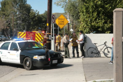 Cyclist hit by vehicle in Canyon Country