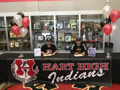Hart boys lacrosse Lucero and Montes sign NLIs