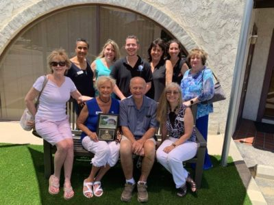 Circle of Hope dedicates garden and bench to retiring board member