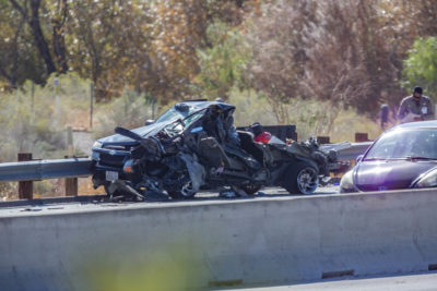 Three hurt in highway crash near Soledad