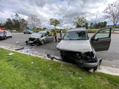Head-on crash results in one transported to hospital