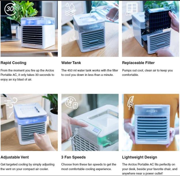 Arctos Portable AC Features