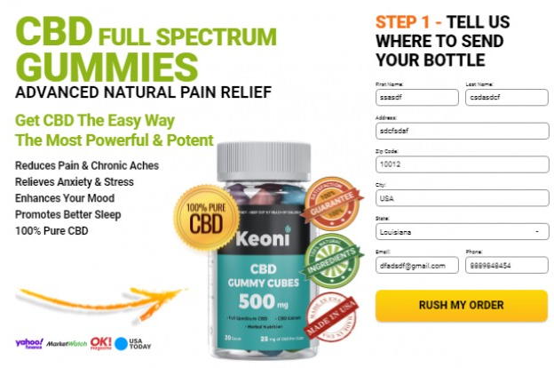 Keoni Full Spectrum CBD Gummies Buy Now